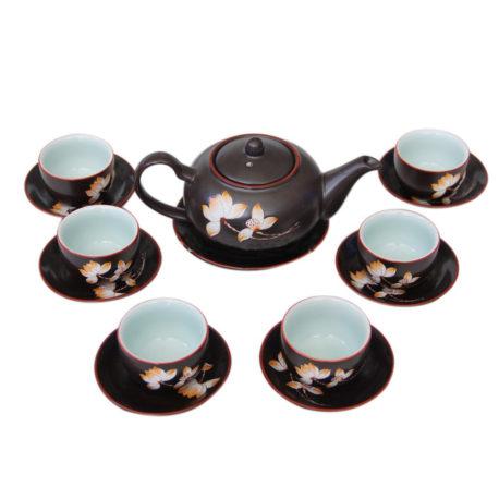 Bộ ấm chén pha trà – Hàng khử – Hoa sen