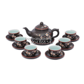 Bộ ấm trà kim quy khắc hoa mai