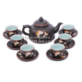 Bộ ấm trà kim quy khắc hoa sen
