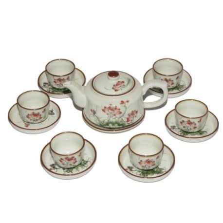 Bộ pha trà hướng thiện – vẽ hoa sen