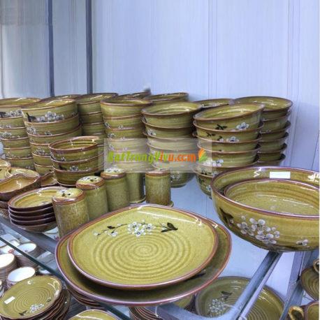 Bộ đồ ăn Bát Tràng – BATO men nâu