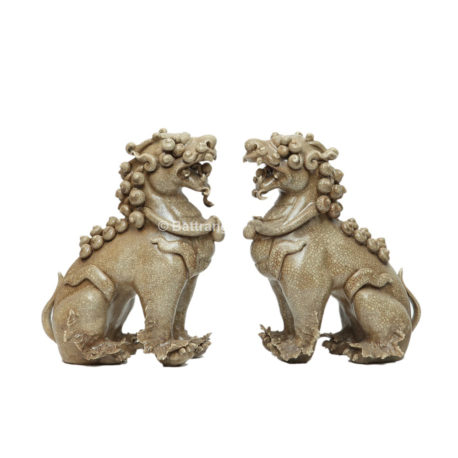 Tượng Nghê Chó – Men dạn – Cao 20cm