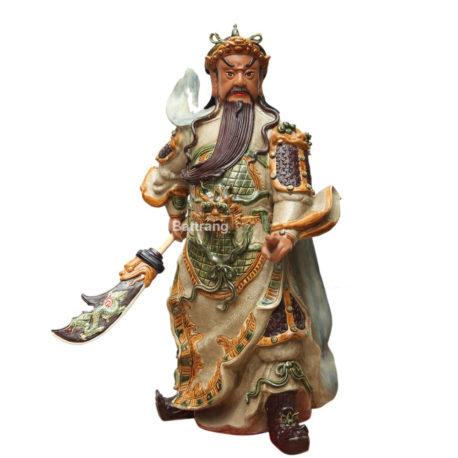Tượng Quan Công – Men Rạn – Cao 90cm