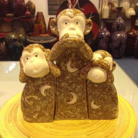 Bộ khỉ gốm sứ cao cấp