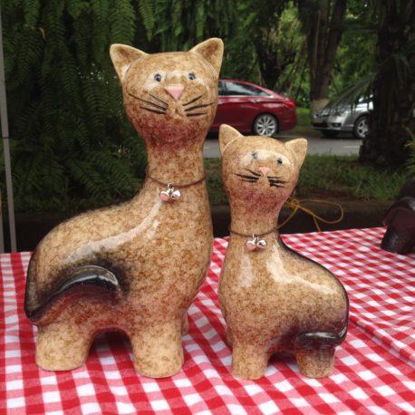 Bộ mèo đôi gốm sứ cao cấp