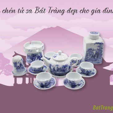 Ấm chén tử sa Bát Tràng đẹp cho gia đình Việt